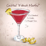 French Martini cocktail Stock Image