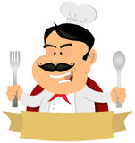 French Master Chef Banner Royalty Free Stock Photography