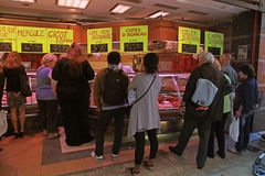 French meat market, Nice, France. Stock Images