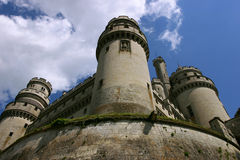 French medieval castle Pierrefond.  Royalty Free Stock Photos
