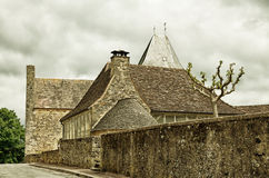 French medieval town Audrix Royalty Free Stock Photography