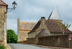 French medieval town Audrix Stock Images