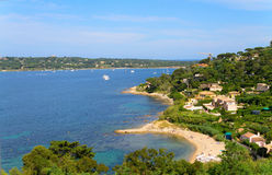 French Mediterranean coast Royalty Free Stock Images