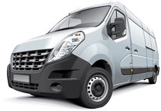 French medium-size van Stock Photo