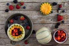 French Melons And Berries Royalty Free Stock Photography