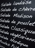 French menu Royalty Free Stock Image