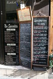 French Menu. The French Menu, Paris, France Stock Photography