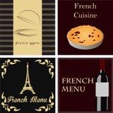 French menu Royalty Free Stock Photos