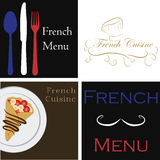 French menu Stock Photography