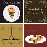 French menu Stock Photos