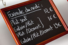 French menu Stock Photos