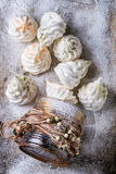 French meringue as Christmas fir tree Royalty Free Stock Photography