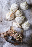 French meringue as Christmas fir tree Stock Image