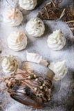 French meringue as Christmas fir tree Stock Photos