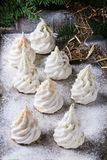 French meringue as Christmas fir tree Royalty Free Stock Photos