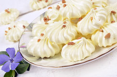 French meringue cookies Stock Photos