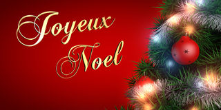 French Merry Christmas stock illustration