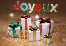 Merry Christmas - Joyeux Noël Royalty Free Stock Photos