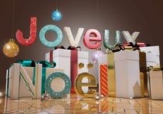 Merry Christmas - Joyeux Noël Royalty Free Stock Image