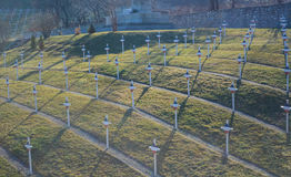 French military cemetery Stock Photos