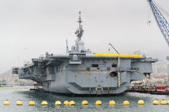 French military nuclear carrier Stock Images