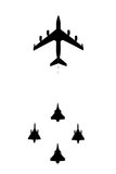 French military planes in flight Royalty Free Stock Photo