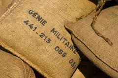 French military Sandbags Stock Image