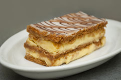 French mille-feuille cake Stock Photography