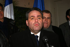 French minister's Xavier Bertrand Royalty Free Stock Photography