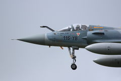 French Mirage approaching to land Stock Photos