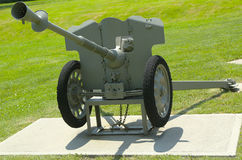 French 25 mm anti-tank gun model of 1937  at Fort Hamilton US Army base in Brooklyn Royalty Free Stock Photography