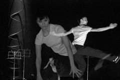 French modern hip-hop dance Stock Photos