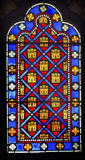 French Monarchy Symbols Stained Glass Sainte Chapelle Paris Fran Royalty Free Stock Photo
