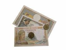French money 1930s-1940s Stock Photos