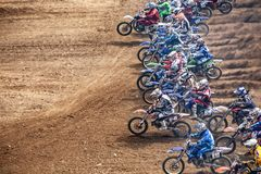 2008 French Motocross Championship in Corseul royalty free stock photos