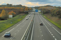 FRENCH MOTORWAY A64 Stock Photos