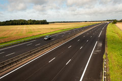 French motorway Royalty Free Stock Photography
