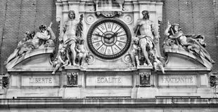 French motto on Paris city hall Royalty Free Stock Photos