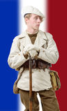 French mountain soldier with a uniform 40s Royalty Free Stock Photo