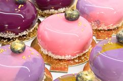 French mousse cakes Stock Image