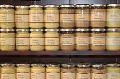 French mustard jars Stock Image
