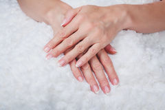French nail art Stock Photography