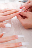 French nails Royalty Free Stock Images