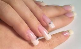 French Nails Royalty Free Stock Image