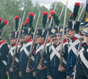 French Napoleonic infantry men Royalty Free Stock Image