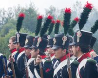 French Napoleonic infantrymen Royalty Free Stock Image