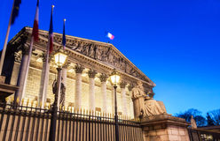 The French  National Assembly at night, Paris, France. Royalty Free Stock Photography