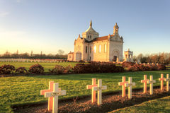 French national cemetery Notre-Dame-de-Lorette - Ablain-Saint-Nazaire. Stock Photography