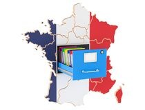 French national database concept, 3D rendering. Isolated on white background Stock Images