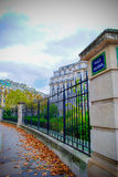 The French National Residence of the Invalids in Paris. During fall time with clouds in the background and good view of the building Stock Photo